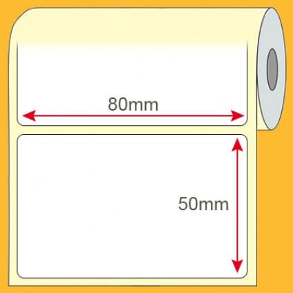 Etiqueta Plástica BOPP 80x50mm