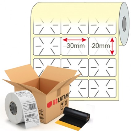 Kit Etiqueta de Lacre 30x20mm + Ribbon Cera
