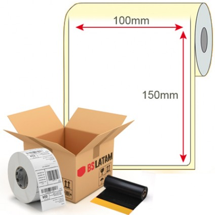 Kit Etiqueta de Produto 100x150mm + Ribbon Cera